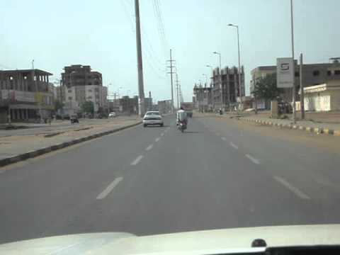 Driving in Khartoum, Sudan
