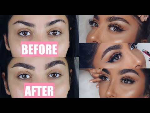 FLUFFY NATURAL EYEBROW ROUTINE I Nina Vee