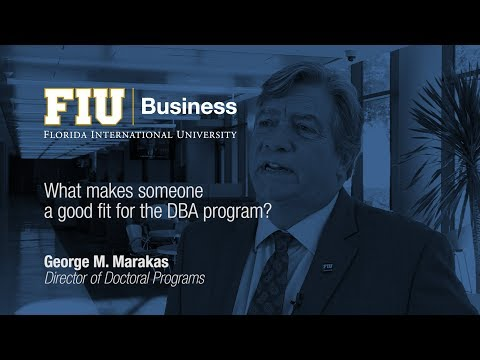 What makes someone a good fit for the DBA program?