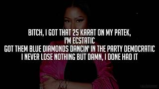 Nicki Minaj - You Da Baddest (Verse) [Lyrics - Video]