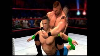 WWE 12 John cena VS Brock Lesnar Highlights HD Extreme rules 2012
