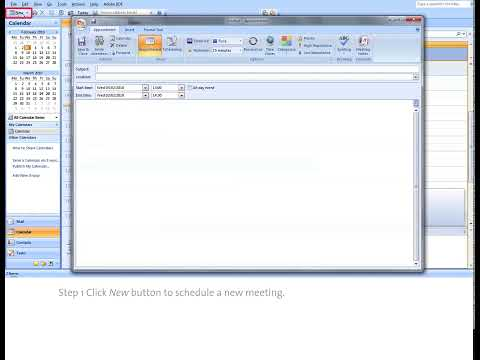 How to create a new meeting in MS outlook