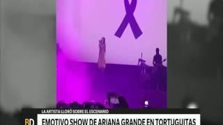 Emotivo show de Ariana Grande - Telefe Noticias
