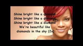 Rihanna Diamonds lyrics width=
