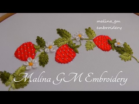 How to Embroider Strawberries | Easy Stitches |  New Idea