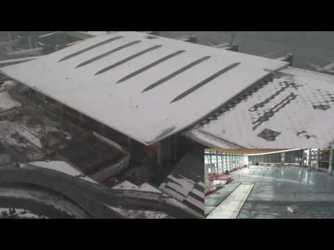 Byggingen av ny avgangshall på nye Oslo lufthavn