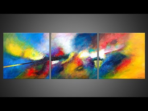 Abstract Painting demonstration with Acrylics | Eternel