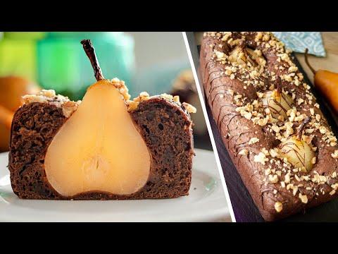 ШОКОЛАДНЫЙ КЕКС С ГРУШАМИ | очень вкусный и простой рецепт Chocolate Pear Cake | пирог груши в тесте