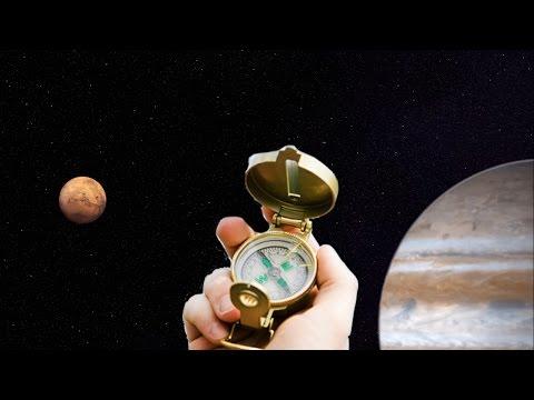 ¿Hacia dónde apuntaría una brújula en el espacio?