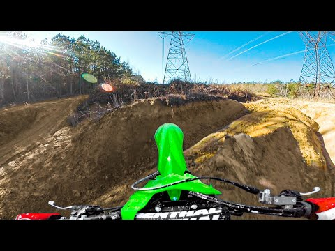 "2020 Kawasaki KX250F First ""Freeride"" Jump!"