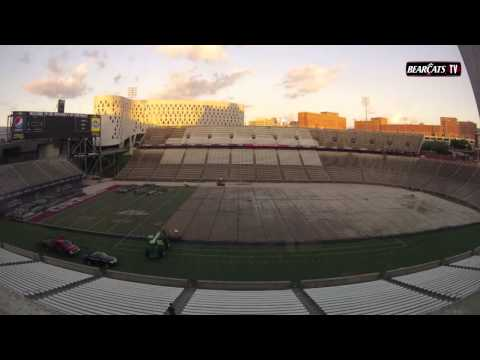 Nippert Stadium Turf Removal Time Lapse