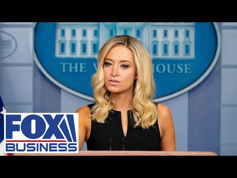 Press secretary Kayleigh McEnany holds a press briefing at White House