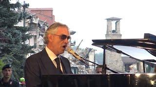 Amatrice, Bocelli canta l'Ave Maria di Schubert