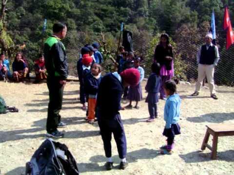 Nepal-Laxmi Primary school yard.MOV