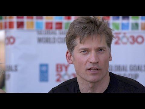 Nikolaj Coster-Waldau Referees the Global Goals World Cup in Kenya