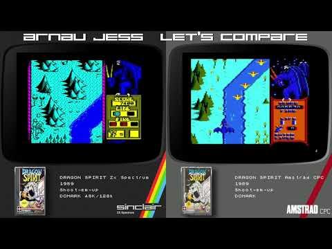 Let´s compare DRAGON SPIRIT Zx Spectrum & Amstrad CPC