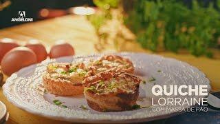 Quiche lorraine na massa de pão de forma