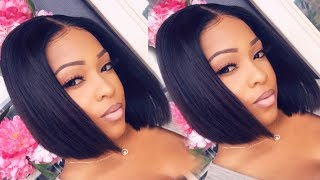 No More Quick Weaves Just The Perfect Middle Part Bob Wig | MyFirstWig