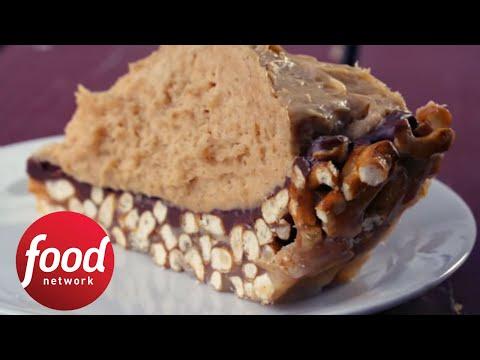Hannah Hart Digs Into Peanut Butter Pretzel Pie | Food Network