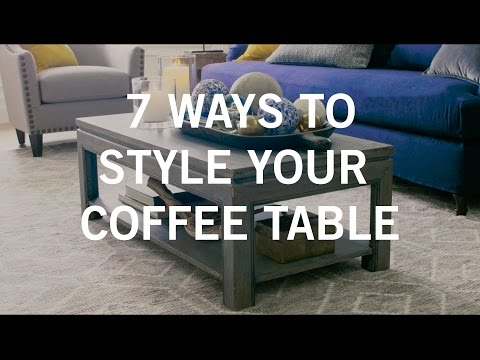 7 Ways to style your coffee table