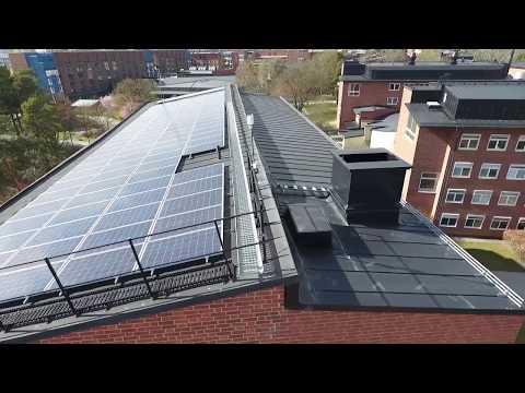 Solceller och energiarbete med Karolinska Institutet och Akademiska Hus