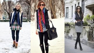 Puffer Vest Women - 20 Style Tips On How To Wear Puffer Vests This Fall
