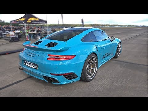 1100HP Porsche 991 Turbo S by ES Motor 1/2 Mile Accelerations!