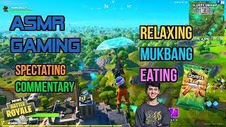 ASMR Gaming | Fortnite Mukbang Eating Bugha's Doritos Dinamita Commentary 먹방 🎮🎧 Whispering😴💤