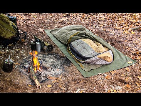 Bushcraft - New Camp Building and Overnight   Self Reliance