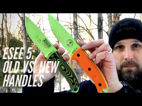 ESEE 5 VS. New ESEE 5 3-D: Same Tough Knife, New 3-D Contoured Handles