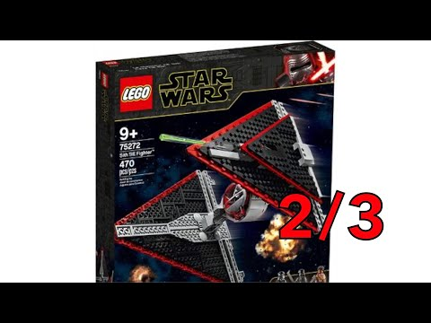 Building the Sith TIE Fighter Part 2 (LEGO Star Wars 75272)