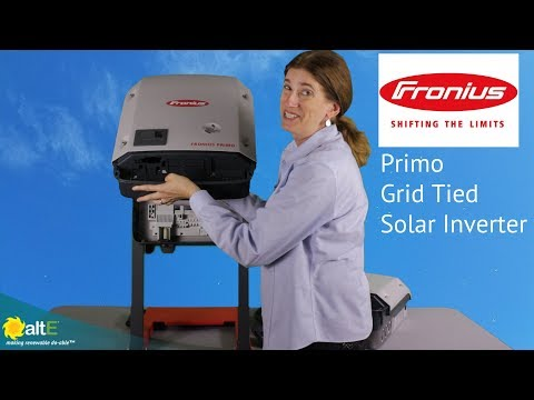 The Fronius Primo grid tie string solar inverter is a simple to install, yet powerful option for your grid tie solar system. With models from 3.8kW to 15kW, you have a wide range of sizes to choose from. Additionally, multiple inverters can be stacked to g