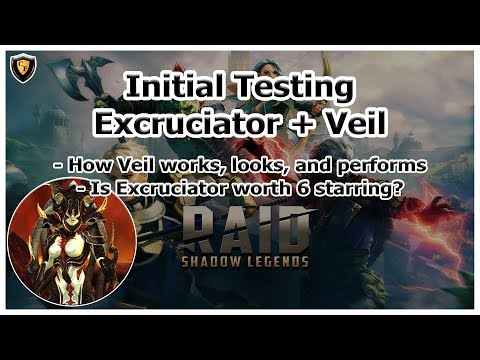 RAID Shadow Legends | Initial Testing of Excruciator + Veil
