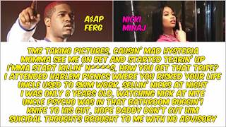 A$AP Ferg ft Nicki Minaj - Plain Jane (Remix - Clean) (Lyric Video)