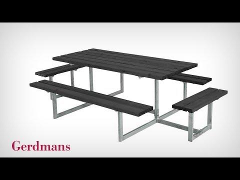 Påbyggnadsbänk till Bänkbord Halde | Monteringsinstruktion | Gerdmans