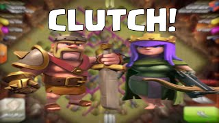 Clash of Clans Attack Strategy Barbarian King Archer Queen Clutch Raids!