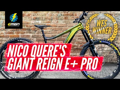WES Winner Nico Quere's Giant Reign E+ Pro | EMBN Pro Bikes