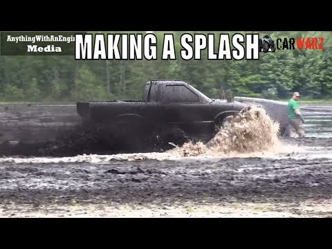 Blue Chevy Making A Splash At BFE Mud Bog June 2019