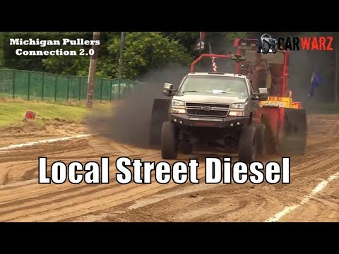 Local Street Diesel Class At TTPA Truck Pulls In Mayville MI 2018