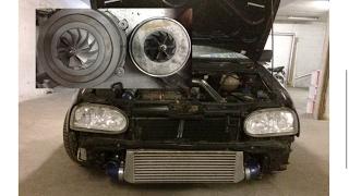 Golf 3 500+nm TDI GTB2260vk 2,5 bar test ARL Tuning Aufbau Turbo Downpipe pumpedüse 1.9 tdi tuning