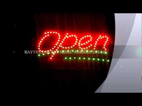 LED LİGHT OPEN LEDLİ OPEN YAZISI 2011 MODEL RAYTOYS İTHALAT NEW ÜRÜN