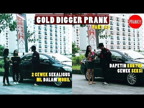 Download Video Ngajak Cewek ML Dalam MOBIL ! ( GOLD DIGGER PRANK #3)