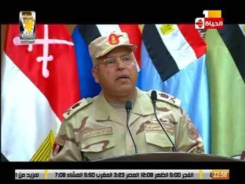 كلمة رئيس الهيئة الهندسية للقوات المسلحة اللواء/ كامل الوزير خلال إفتتاح السيسي قيادة شرق القناة