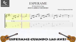 """"""" ESPERAME """"- Jesus Adrian Romero - Tutorial de  Guitarra Acustica ( partituras )"""