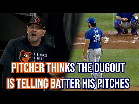 Pitcher thinks Orioles have his pitches and Orioles manager gets mad, a breakdown