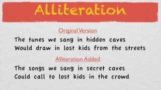 How To Write Good Lyrics | Alliteration