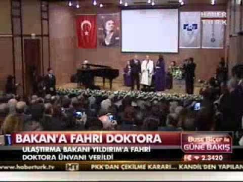Binali Yıldırım Fahri Doktora Töreni - Habertürk Buse Biçer ile Güne Bakış - 25.04.2013
