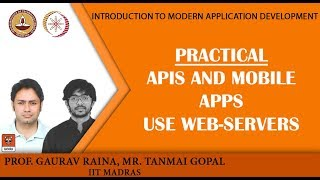 Module P6: Practical: APIs and mobile apps use web-servers width=