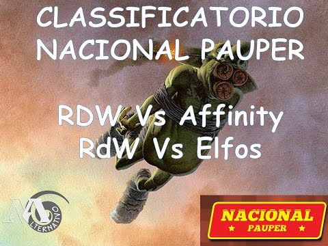 Gameplay RdW Classificatorio Nacional Pauper Semifinal e Final