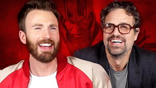 Chris Evans and Mark Ruffalo Try To Survive Thanos' Snap